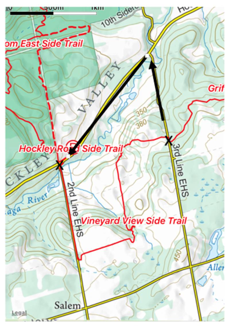 Rerouting of trail